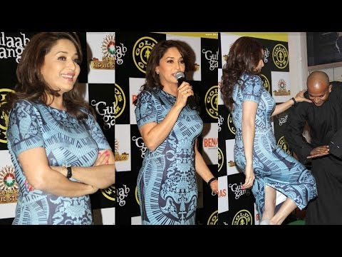 Madhuri Dixit In Sexy Body Fit Dress At Gold's Gym video