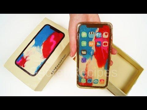 Новинка! iPhone X СЪЕДОБНАЯ ВЕРСИЯ. Попробуй iPhone X из шоколада | Cake iPhone X
