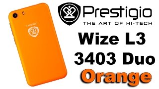 Prestigio MultiPhone Wize L3 3403 Duo Orange. Распаковка и первое включение