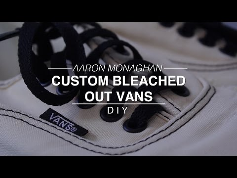 custom bleached magma vans diy how to save money and