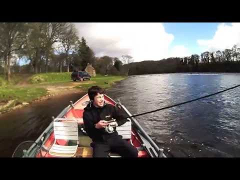 Salmon Fishing Scotland April Spring salmon Fishing on the Tay, Perthshire, Scotland 2013.