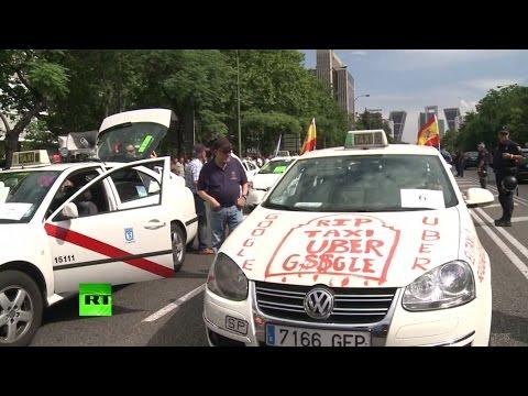 Итальянские таксисты протестуют против мобильного приложения Uber
