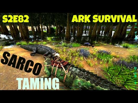 Sarco TAMING and Use - High Level Kibble Tame - ARK: Survival Evolved
