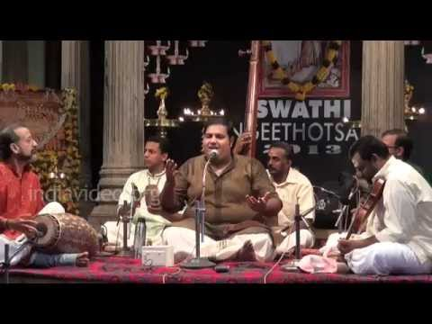 Carnatic vocal by Vighnesh Eashwar at Swathi Music Festival, 2013