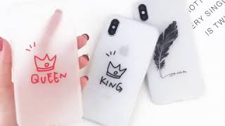 Luminous Heart Feather Crown Case For iPhone X XR XS MAX 7 6 6S 8 Plus