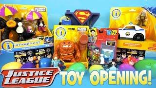 Imaginext Justice League Toys Mega Toy Opening with Imaginext Batman Toys & Batman Surprise Eggs