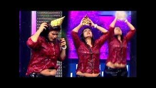 Vijay TV Serial Actress Hot Navel Slip In Reality Show