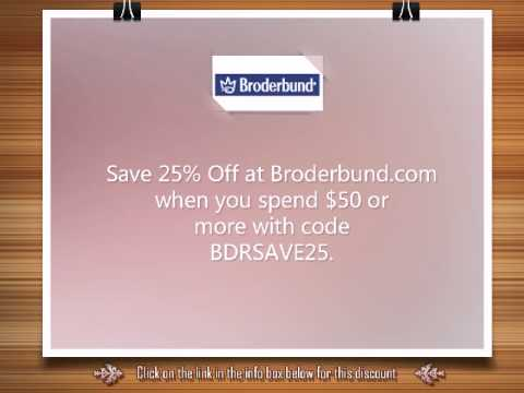 Broderbund Coupon Code - 25% Discount on Purchases Above $50