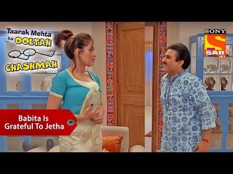 Babita Is Grateful To Jethalal | Taarak Mehta Ka Ooltah Chashmah thumbnail