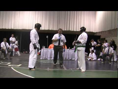 Kyokushin Karate IFK tournament Rochester NY 2011-- Bobby Filipov's first fight Image 1