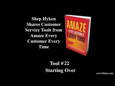 Customer Service Tool #22: Keynote Speaker Discusses Starting Over