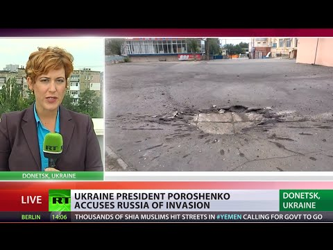 RT's reporter goes LIVE minutes after Grad shelling in Donetsk