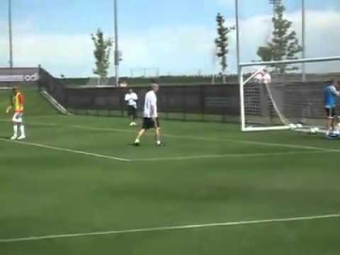 Zidane Vs Goalkeeper Training