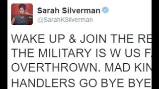 Sarah Silverman Jewess Demands Military Uprising On President United States-'Naturally', No Arrest