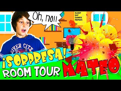 😱 ROOM TOUR de MATEO y 💥 ¡¡¡SORPRESA durante la GRABACIÓN!!! 💥 😱😱😱 The Crazy Haacks ROOM TOUR