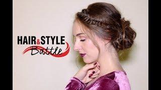 Фактурная прическа с косой для конкурса Hair&Style Battle