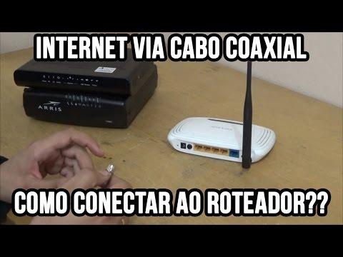 Internet via cabo coaxial - Como conectar ao roteador (NET Virtua e outros serviços)