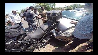 CRAZY ACCIDENT | Maruti SWIFT hits Triumph TIGER and..