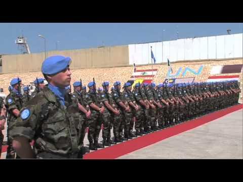President Michael D. Higgins addresses the 47th Inf Gp, UNIFIL in Lebanon.