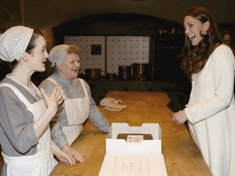 Kate Middleton Visits 'Downton Abbey' Set