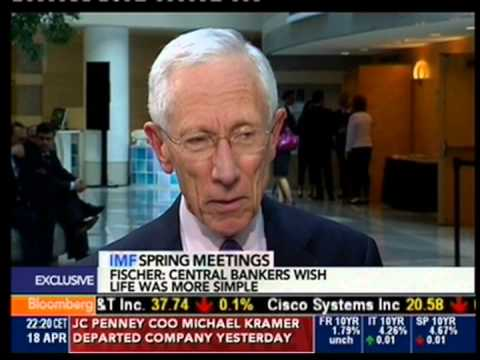 Stanley Fischer On Bloomberg TV - 18.04.2013