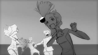 Rough anime scene Pencil test for the Done in Photoshop and After Effects