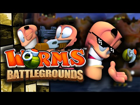 Worms: Battlegrounds - TOP NOTCH BANTER! - (Worms Funny Moments Online)