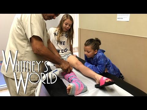 Whitney gets her Cast Cut Off | Whitney