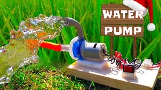 How to Make Powerful Water Pump - Wonderful  Home Made Pump
