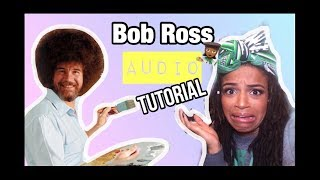 I TRIED FOLLOWING A BOB ROSS TUTORIAL WITH ONLY AUDIO | 7 DAYS LEFT TILL X-MAS
