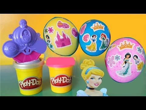 ♥ DIY Disney Princess Easter Egg Dye Kit ♥ Play-Doh Create with Cinderella