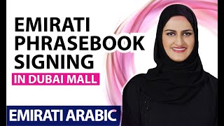 AlRamsa Institute, Emirati phrasebook sigining in Dubai Mall