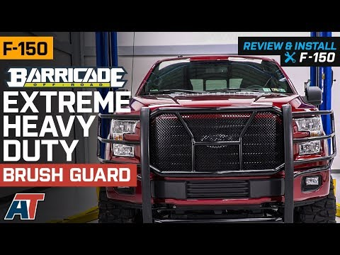 2015-2018 F150 Barricade Extreme Heavy Duty Black Brush Guard Review & Install