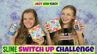 Slime Switch Up Challenge ~ Jacy and Kacy