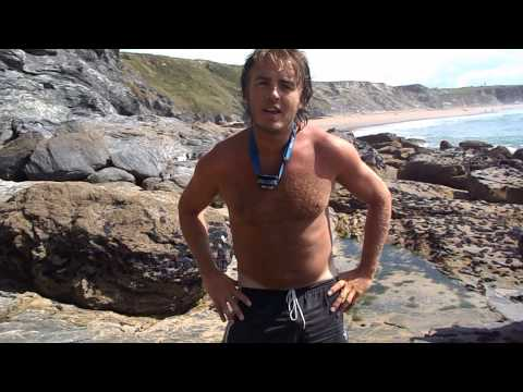 Naked Beach Adventure Watergate Bay video