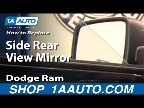 How To Replace Install Side Rear View Mirror 2009-2012 Dodge Ram