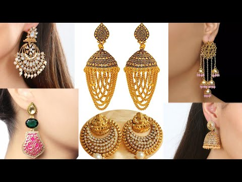 Latest 2018 navratri earrings design | Jhumkas design | weight and price | gold jewellery