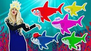 ★ SHARK Finger Family Nursery Rhyme ★ ANIMALSKETCH Daddy Finger Kids Song for Children & Babies ★