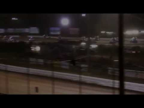 Lincoln Speedway 410 and 358 Sprint Car Highlights 04-04-15