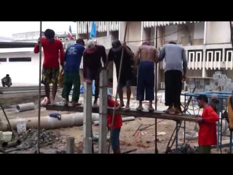 Human Pile Driving In Thailand