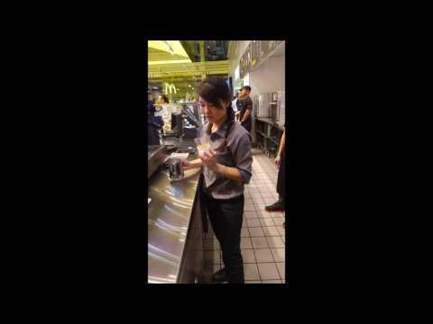 McDonald's Barista Making Coffee