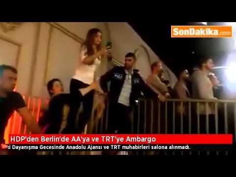 HDP'den Berlin'de AA'ya ve TRT'ye Ambargo