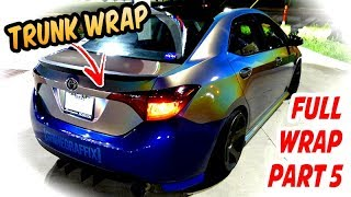 PART 5 TRUNK WRAP - Full Wrap 3M 1080 Psychedelic 2017 Corolla