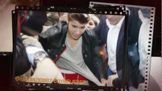 Justin Bieber mobbed by fans as he leaves KISS FM Studio in London  (April 24)