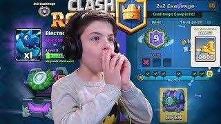 2V2 CHALLENGE - 9 WINS - Clash Royale