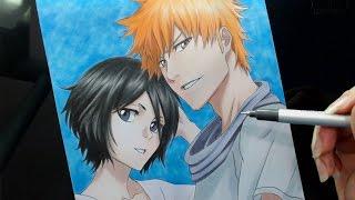 Speed Drawing - Rukia and Ichigo (Bleach)