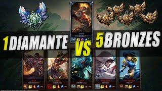 1vs5 - 1 Diamante vs 5 Bronzes - League of Legends - [ PT-BR ]
