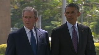 President Obama, President Bush Unite in Tanzania for Memorial for Embassy Bomb 7/2/13 ing Victims