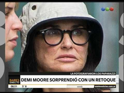 Demi Moore y rostro irreconocible - Telefe Noticias