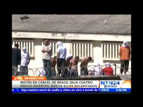 Negocian fin del motín en cárcel de Brasil donde decapitaron a dos presos